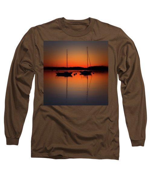 Summer Sunset Calm Anchor Long Sleeve T-Shirt