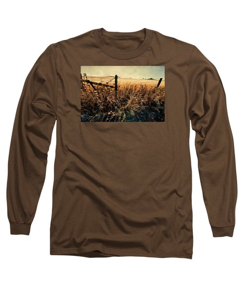 Summertime Country Fence Long Sleeve T-Shirt by Steve Siri