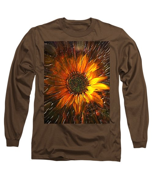 Long Sleeve T-Shirt featuring the painting Sun Burst by Kevin Caudill