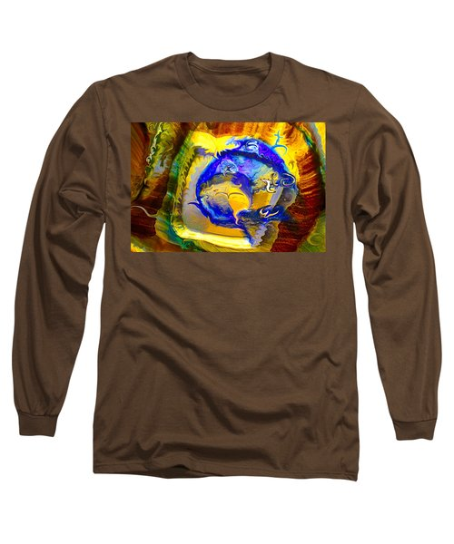 Long Sleeve T-Shirt featuring the painting Sun Of A Moon by Omaste Witkowski