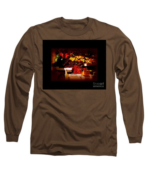 Long Sleeve T-Shirt featuring the photograph Sun On Fruit - Markets And Street Vendors Of New York City by Miriam Danar