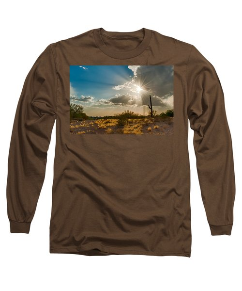 Long Sleeve T-Shirt featuring the photograph Sun Rays In Tucson by Dan McManus