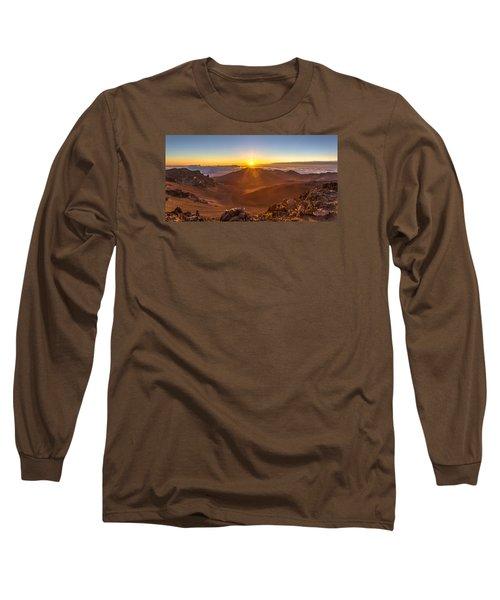 Sun Rising Mount Haleakala Long Sleeve T-Shirt by Pierre Leclerc Photography