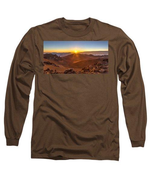 Sun Rising Mount Haleakala Long Sleeve T-Shirt