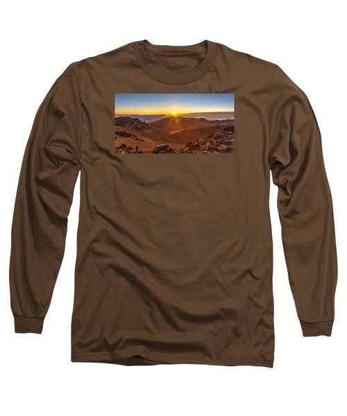 Sun Rising Mount Haleakala Long Sleeve T-Shirt