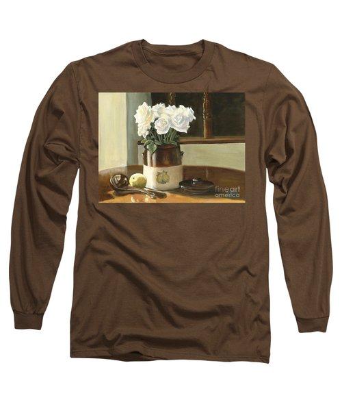 Sunday Morning And Roses - Study Long Sleeve T-Shirt