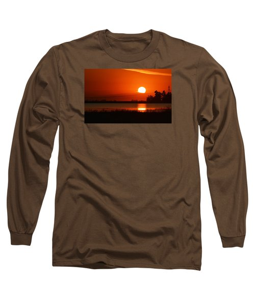 Long Sleeve T-Shirt featuring the photograph Sundown by AJ  Schibig