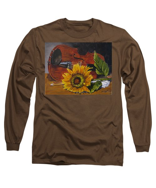 Sunflower And Violin Long Sleeve T-Shirt