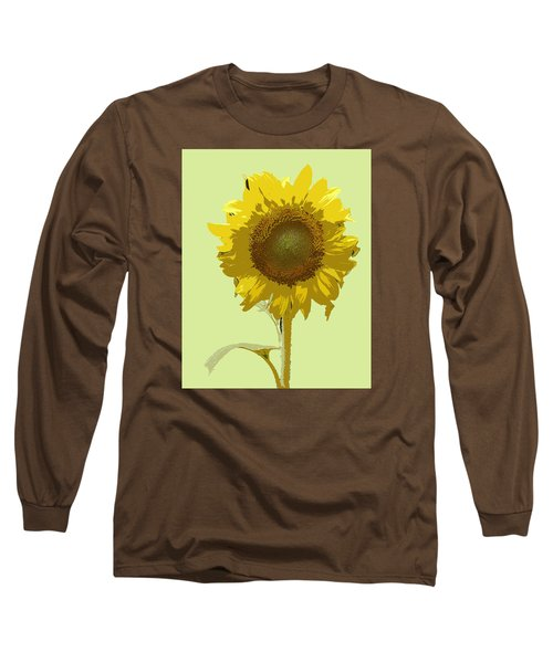 Long Sleeve T-Shirt featuring the digital art Sunflower by Karen Nicholson