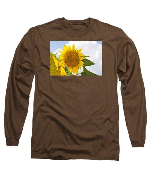 Sunflower Long Sleeve T-Shirt by Linda Geiger