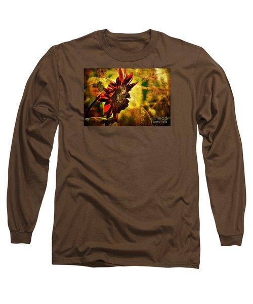 Sunflower Long Sleeve T-Shirt by Lois Bryan