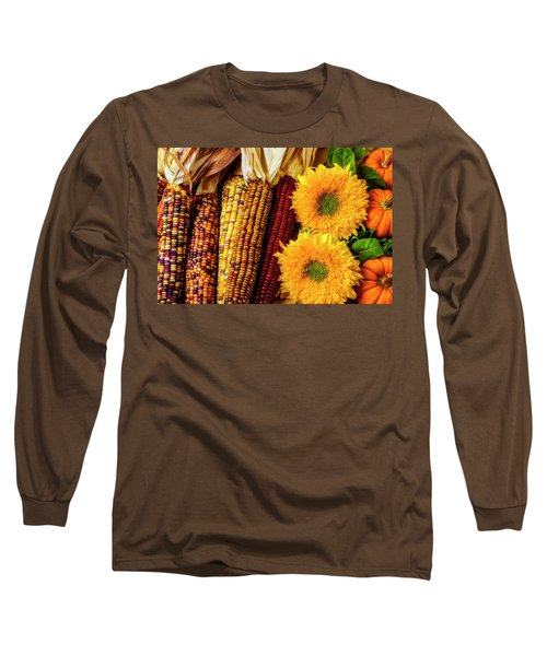 Sunflowers And Indian Corn Long Sleeve T-Shirt