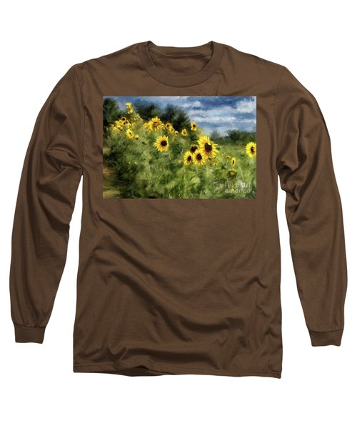 Sunflowers Bowing And Waving Long Sleeve T-Shirt