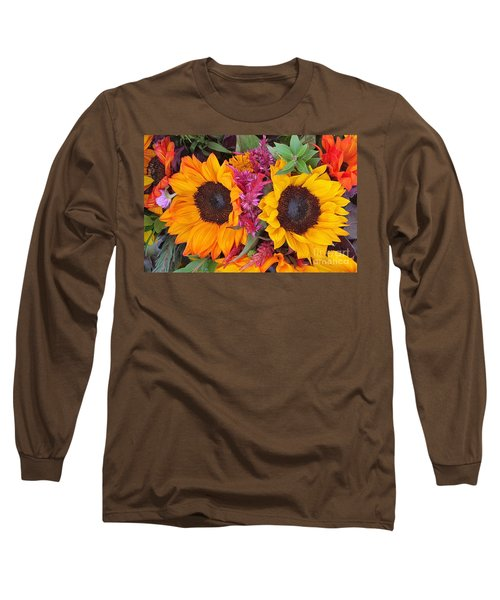 Sunflowers Eyes Long Sleeve T-Shirt by Jasna Gopic