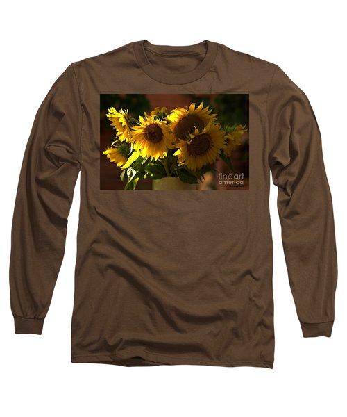 Sunflowers In A Vase Long Sleeve T-Shirt
