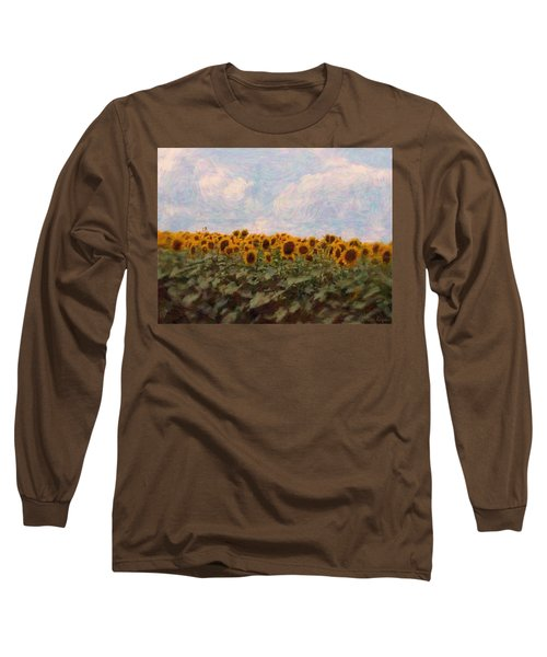 Sunflowers Long Sleeve T-Shirt by Robin Regan
