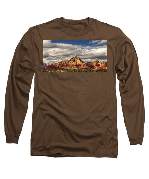 Long Sleeve T-Shirt featuring the photograph Sunlight On Sedona by James Eddy
