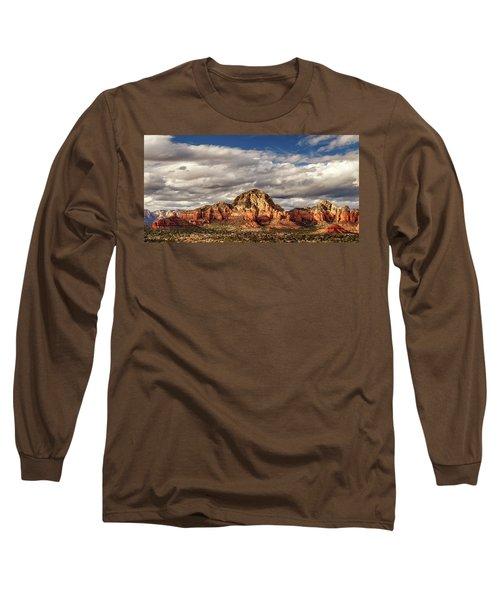 Sunlight On Sedona Long Sleeve T-Shirt by James Eddy