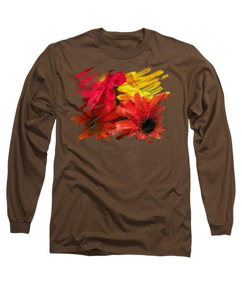 Sunny Daisy Flower Art Long Sleeve T-Shirt