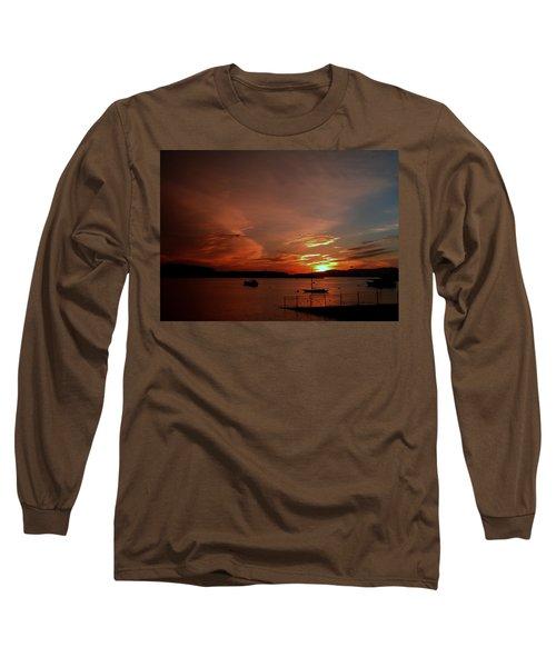 Sunraise Over Lake Long Sleeve T-Shirt