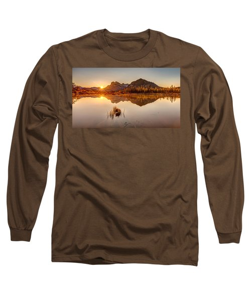 Long Sleeve T-Shirt featuring the photograph Sunrise At Banff's Vermilion Lakes  by Pierre Leclerc Photography
