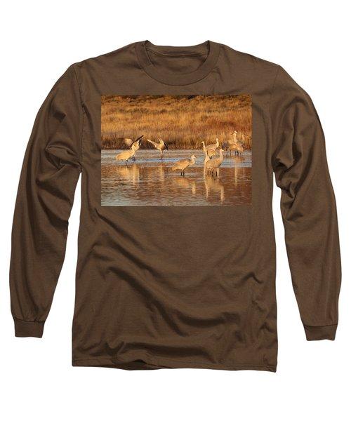 Sunrise At The Crane Pond Long Sleeve T-Shirt