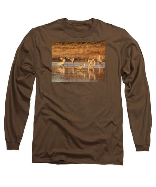 Sunrise At The Crane Pond Long Sleeve T-Shirt