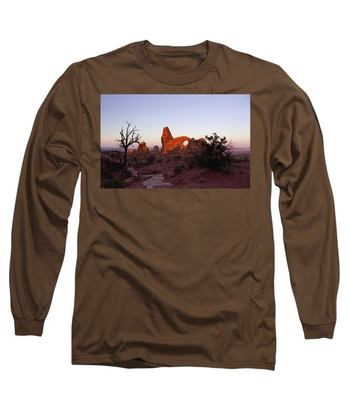 Sunrise At Tower Arch Long Sleeve T-Shirt