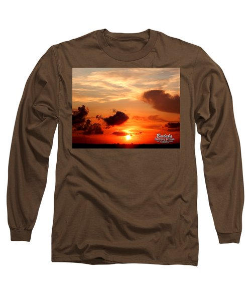 Sunrise In Ammannsville Texas Long Sleeve T-Shirt by Barbara Tristan