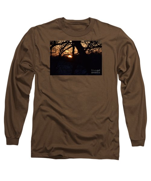 Sunrise In The Woods Long Sleeve T-Shirt by Mark McReynolds