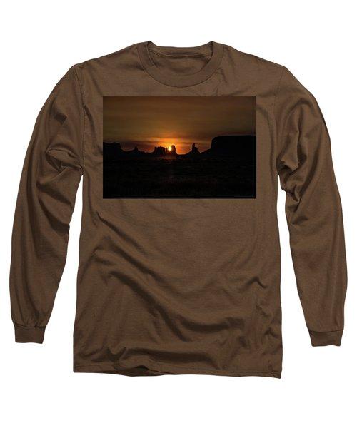 Sunrise Monument Valley Long Sleeve T-Shirt
