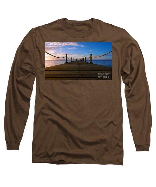 Sunrise Morning Bliss Pier 140a Long Sleeve T-Shirt