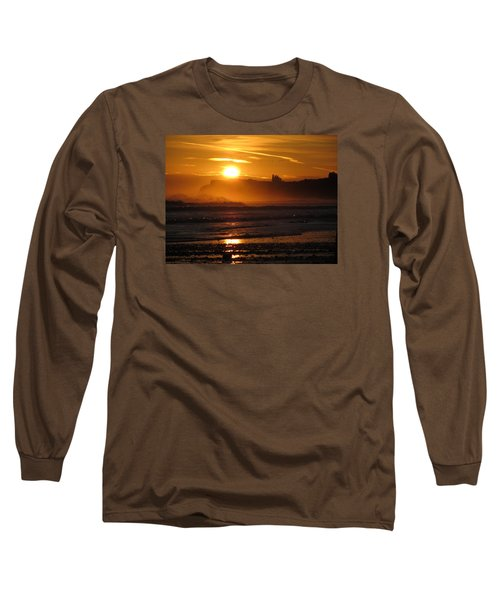 Long Sleeve T-Shirt featuring the photograph Sunrise Over Sandsend Beach by RKAB Works