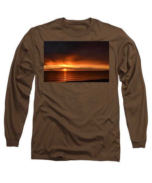Sunrise Rays Long Sleeve T-Shirt by Nancy Landry