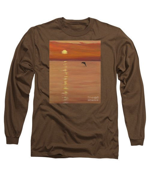 Sunrise Surprise Long Sleeve T-Shirt by Anne Marie Brown