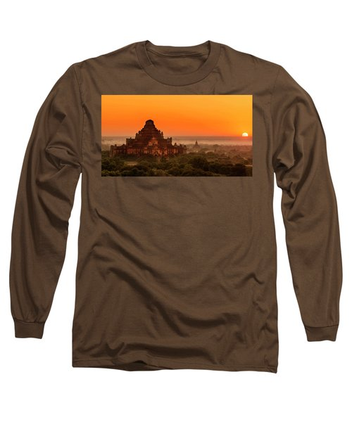 Sunrise View Of Dhammayangyi Temple Long Sleeve T-Shirt