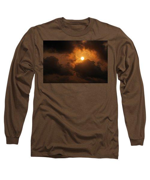 Sunset At Aruba Long Sleeve T-Shirt by Allen Carroll