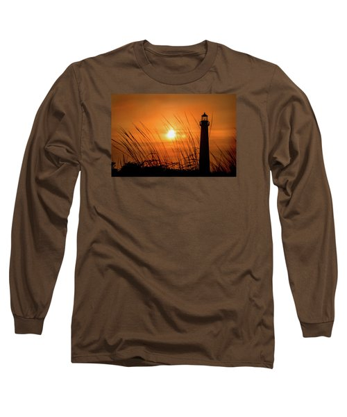 Sunset At Cm Lighthouse Long Sleeve T-Shirt