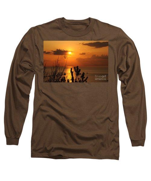 Sunset At Lake Huron Long Sleeve T-Shirt
