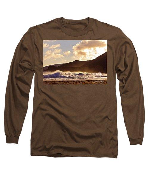 Sunset At Sandy Beach Long Sleeve T-Shirt
