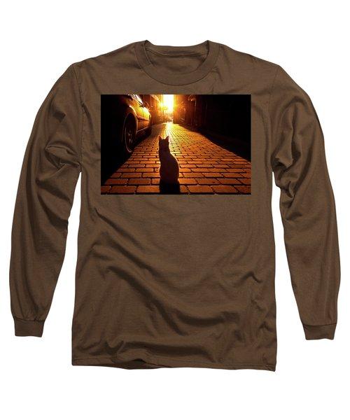 Sunset Cat Long Sleeve T-Shirt