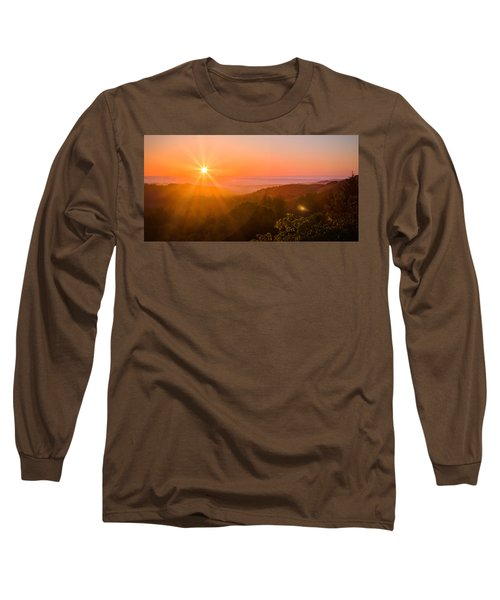 Sunset Fog Over The Pacific #1 Long Sleeve T-Shirt