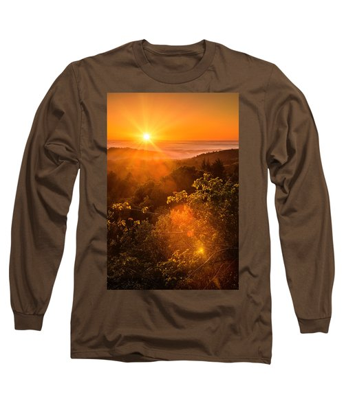 Sunset Fog Over The Pacific #2 Long Sleeve T-Shirt