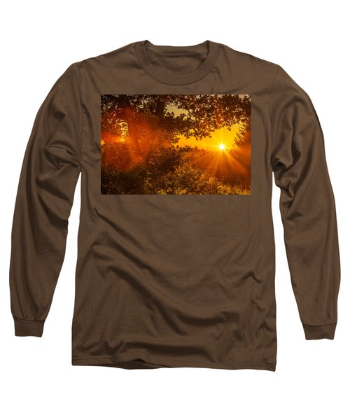 Sunset Fog Over The Pacific #3 Long Sleeve T-Shirt