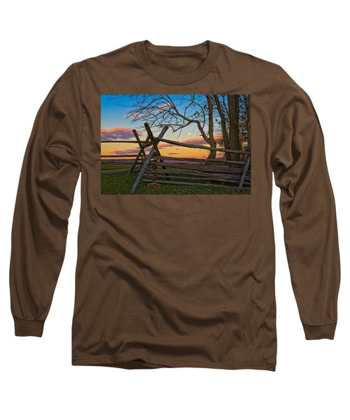 Sunset In Antietam Long Sleeve T-Shirt by Ronald Lutz