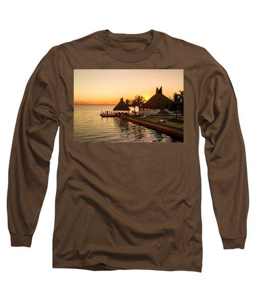 Sunset In Cancun Long Sleeve T-Shirt