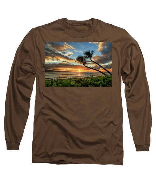 Long Sleeve T-Shirt featuring the photograph Sunset In Kaanapali by James Eddy