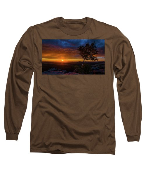 Sunset In Saxonian Switzerland Long Sleeve T-Shirt by Andreas Levi