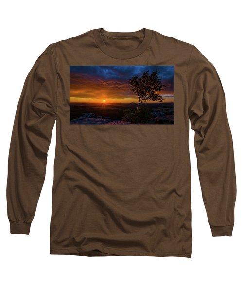 Sunset In Saxonian Switzerland Long Sleeve T-Shirt