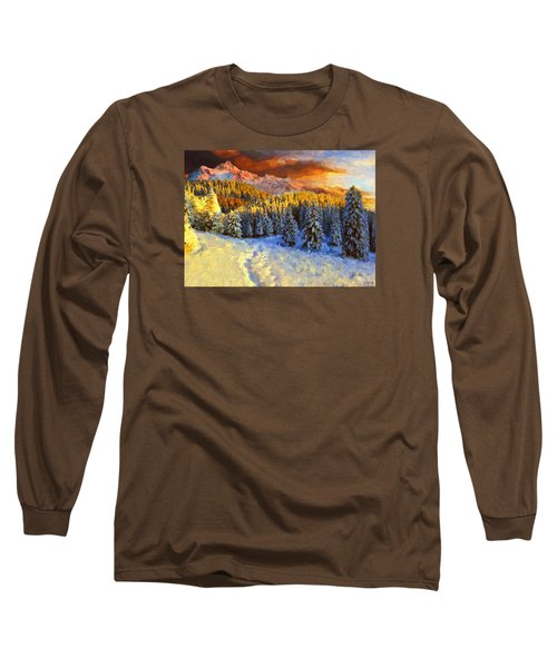 Sunset In The Rockys Long Sleeve T-Shirt